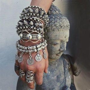 Jewelry - Bohemian Moon Child Turkish Silver Coin Bracelet